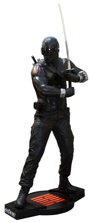 G.I. Joe The Rise of Cobra fullskalig Staty Snake Eyes 198 cm