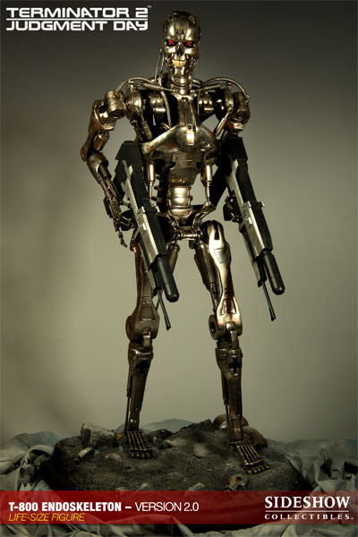 Terminator 2 Staty 1/1 T-800 Endoskeleton Version 2 190 cm