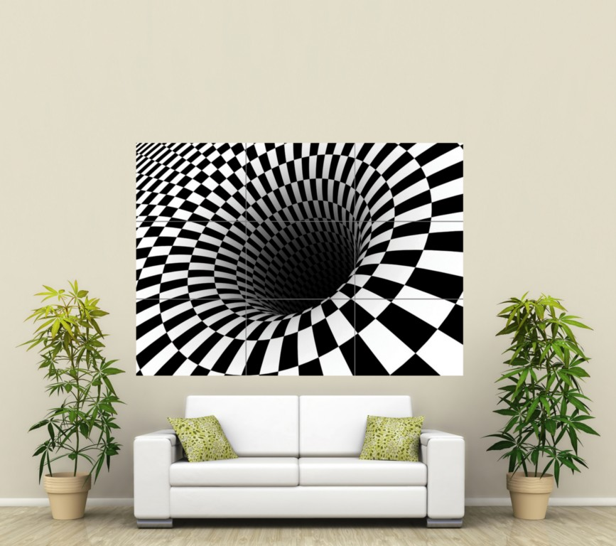 ABSTRACT HOLE DIGITAL GIANT PICTURE POSTER PRINT