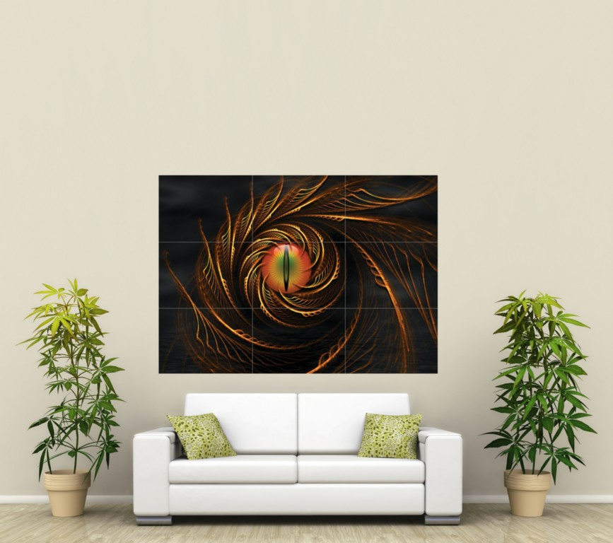 Arty Dragon Eye Giant Poster Print