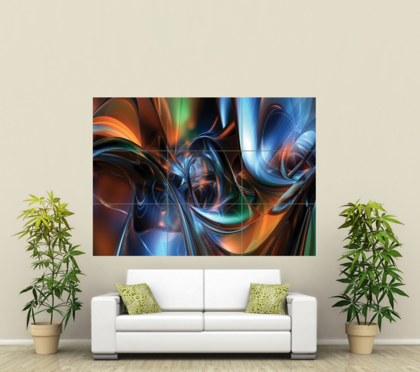 ABSTRACT ART HUGE GIANT PICTURE ART POSTER PRINT