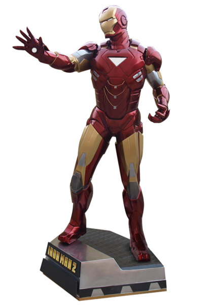 Iron Man 2 Fullskalig Staty Iron Man Clean Version 225 cm