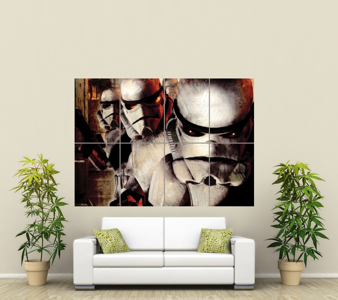 STAR WARS STORM TROOPERS HUGE GIANT ART PRINT PICTURE