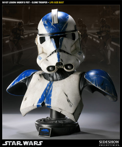 Star Wars Bust 1/1 501st Legion: Vader´s Fist Clone Trooper 66 cm