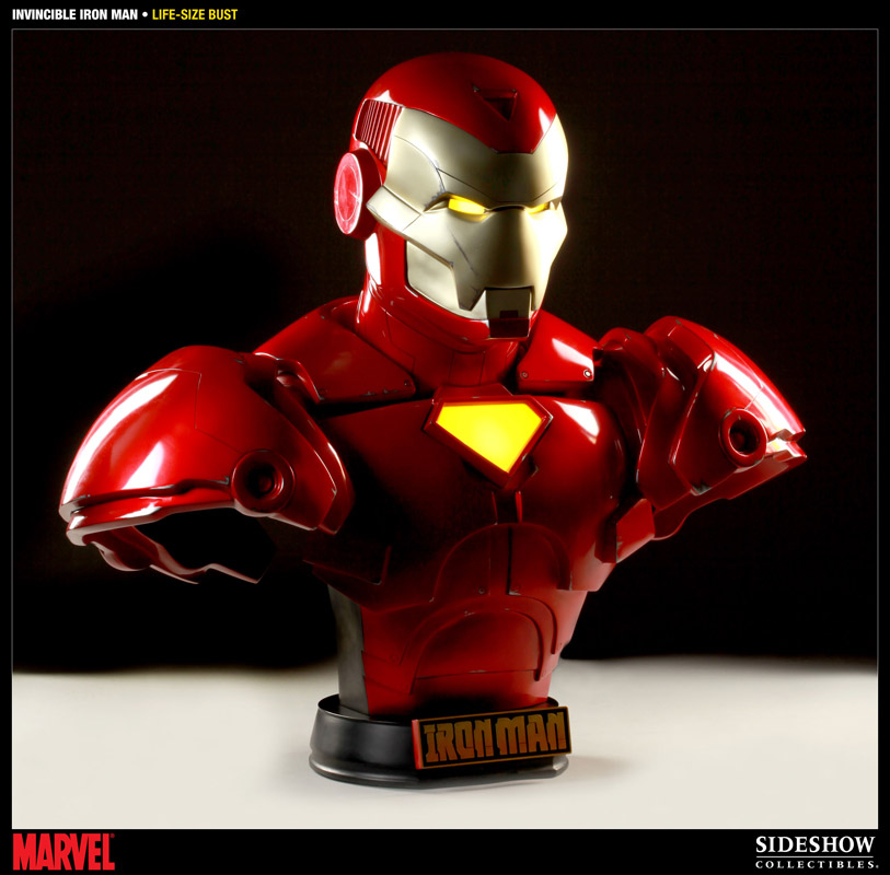 Invincible Iron Man Bust 1/1 Iron Man Comic Version 71 cm